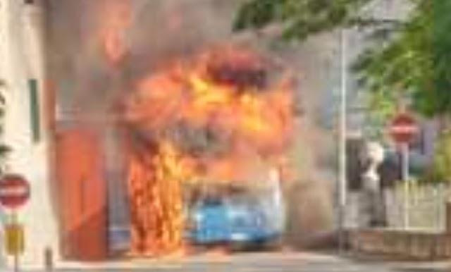 Cotral: bus flambè nel reatino