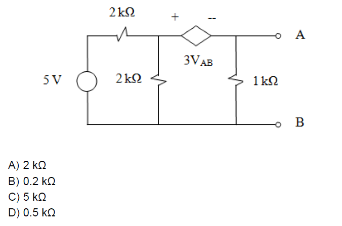 knowledge adda  for the circuit given below  the thevenin