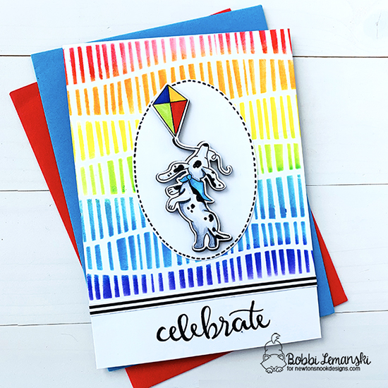 Celebrate by Bobbi features Delightful Doxies and Serene Stripes by Newton's Nook Designs; #newtonsnook