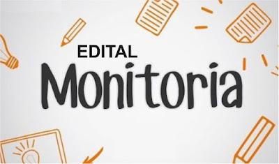 Edital de monitoria: inscrições abertas