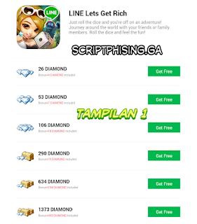 Tampilan 1 Script Phising Let's Get Rich Terbaru Sendmail