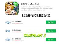 Script Phising Line Let's Get Rich Terbaru