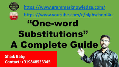 One-word substitutions A Complete Guide