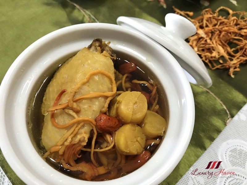 chinese tonic cordyceps militaris chicken conpoy soup recipe