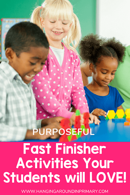 Try purposeful fast finishers activities that promote skill practice in math rather than the go-to activities of reading and writing in a journal.  It's a better use of your student's time.