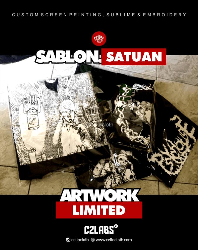 Sablon Kaos Artwork Satuan Rubber and Plastisol - Sablon Kaos Jogja