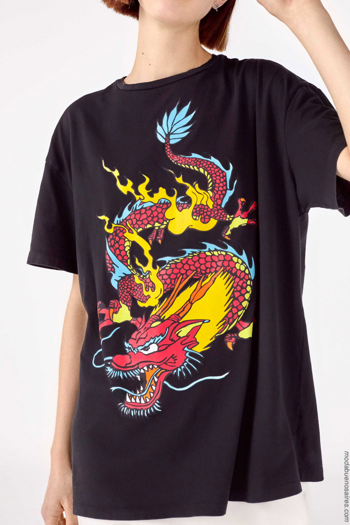 Remeras con dragones primavera verano 2020.