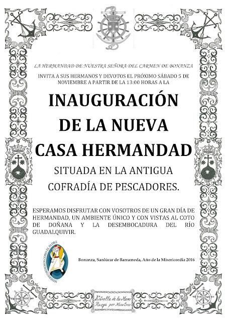 inauguración de la casa hermandad