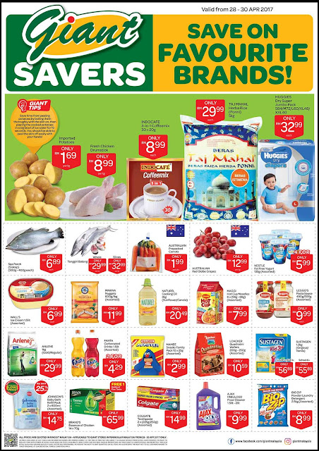 Giant Malaysia Save on Your Favourite Brands Discount Offer Promo
