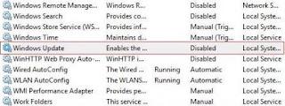 cara mematikan windows update - windows update