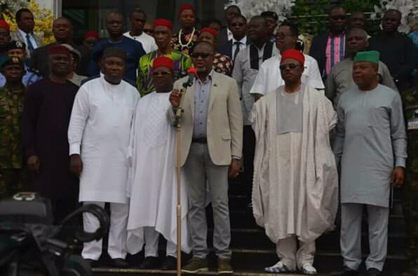 South East Governors met today in Enugu ...tackle security and other issues bothering the zone.