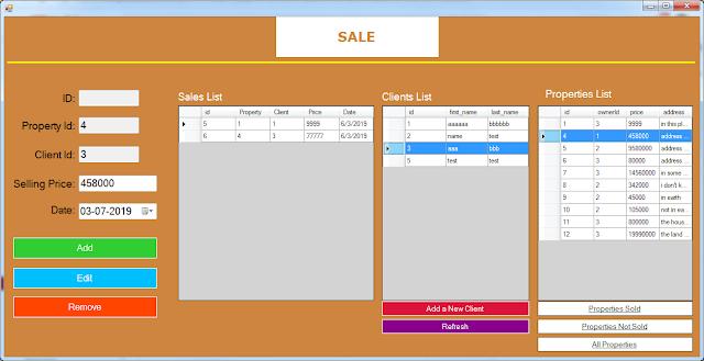 properties sales form