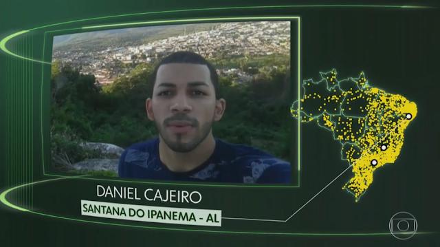 """Morador de Santana do Ipanema /AL, tem vídeo exibido no Jornal Nacional, no quadro """"O Brasil que eu quero"""""""