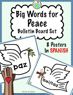 Words of Peace in Spanish Bulletin Board Set