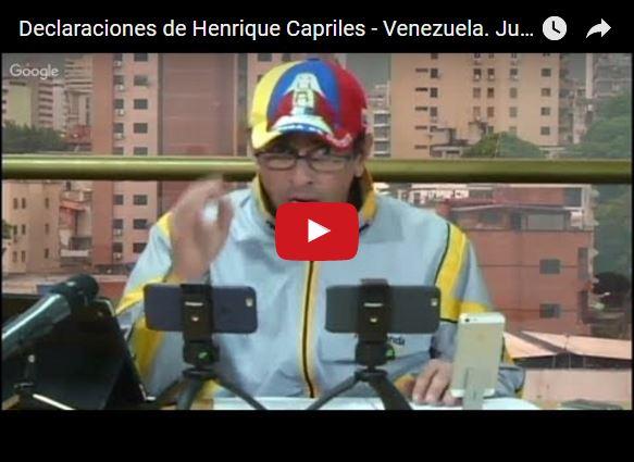 Capriles quiere desenmascarar a la Fiscal Luisa Ortega Díaz