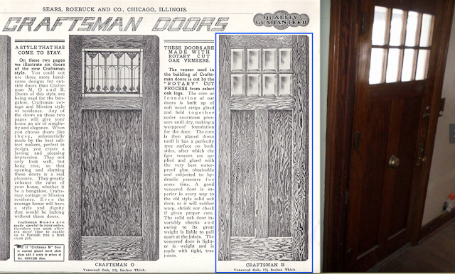 700 Elk Street, Beatrice, Nebraska • probable Sears Hawthorne front door from Sears catalog