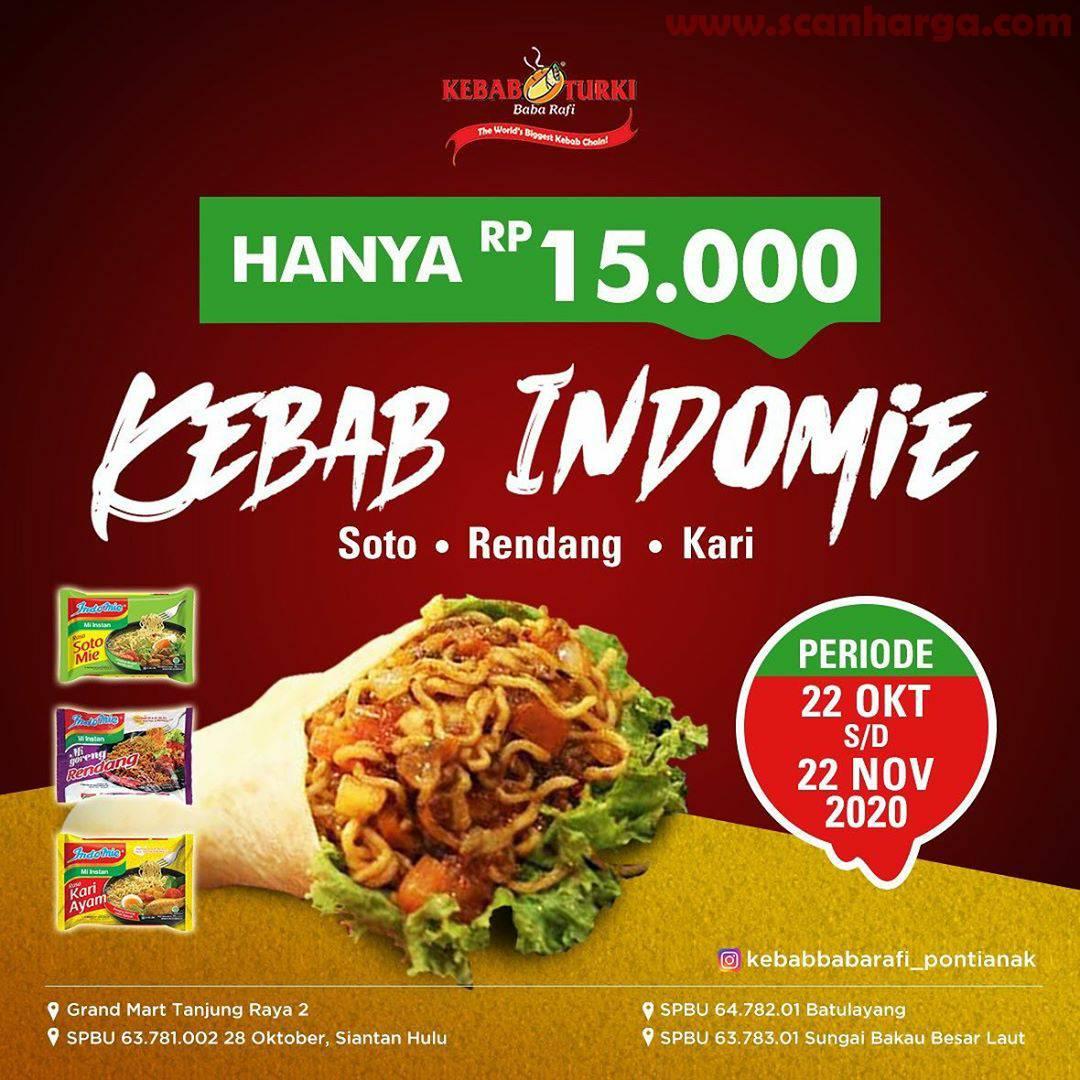 Promo KEBAB TURKI BABA RAFI - Varian Kebab Indomie Hanya Rp 15.000