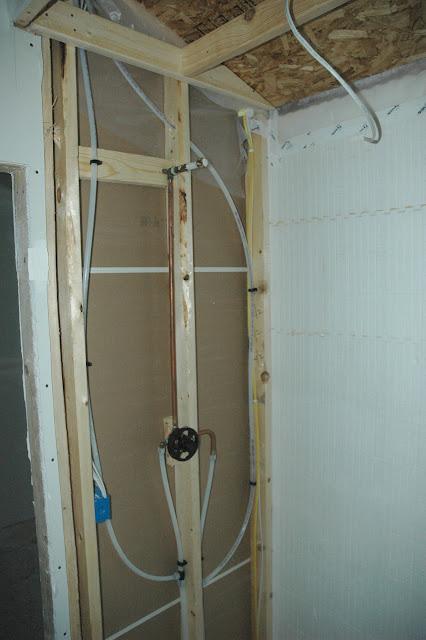 David's ICF Home Build: Plumbing status