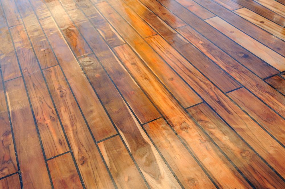 Holzmaserung Hervorheben wie streicht den boden im gartenhaus pineca