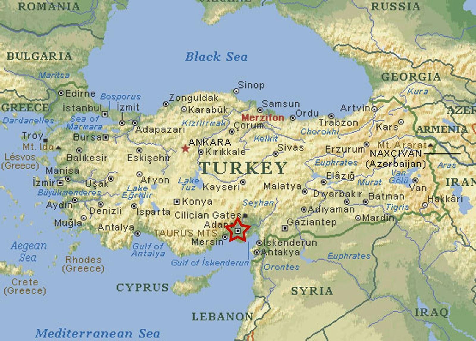 Turkey Map Car Radio GPS