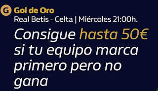 william hill promo Real Betis vs Celta 20-1-2021