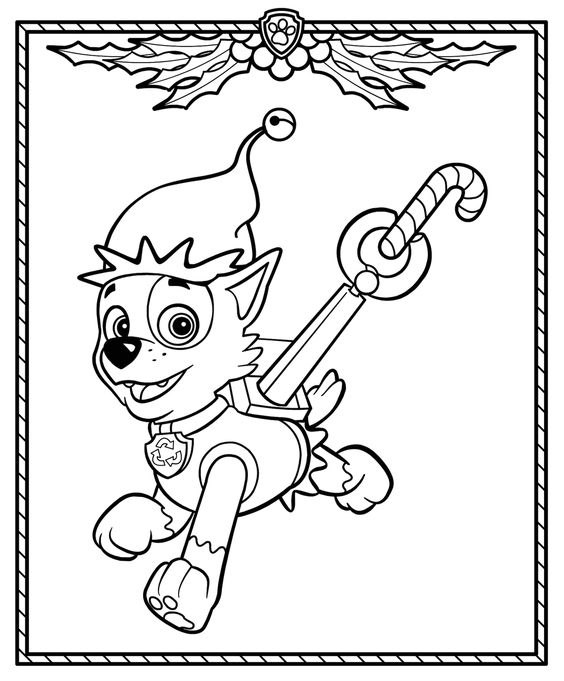 Paw patrol coloring pages 8