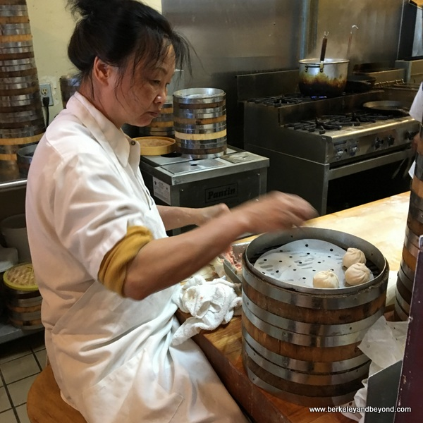 making dumplings at Shanghai Dumpling Shop in Millbrae, California