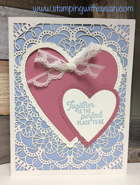 Stampin' Up!, Bird Ballad Laser-Cut Card & Tin, Silhouette Scenes, Stitched Be Mine, www.stampingwithsusan.com,