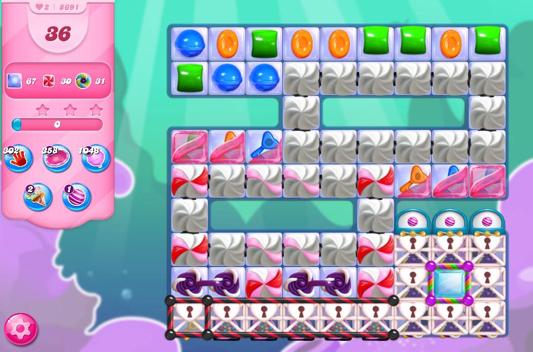 Candy Crush Saga level 8691
