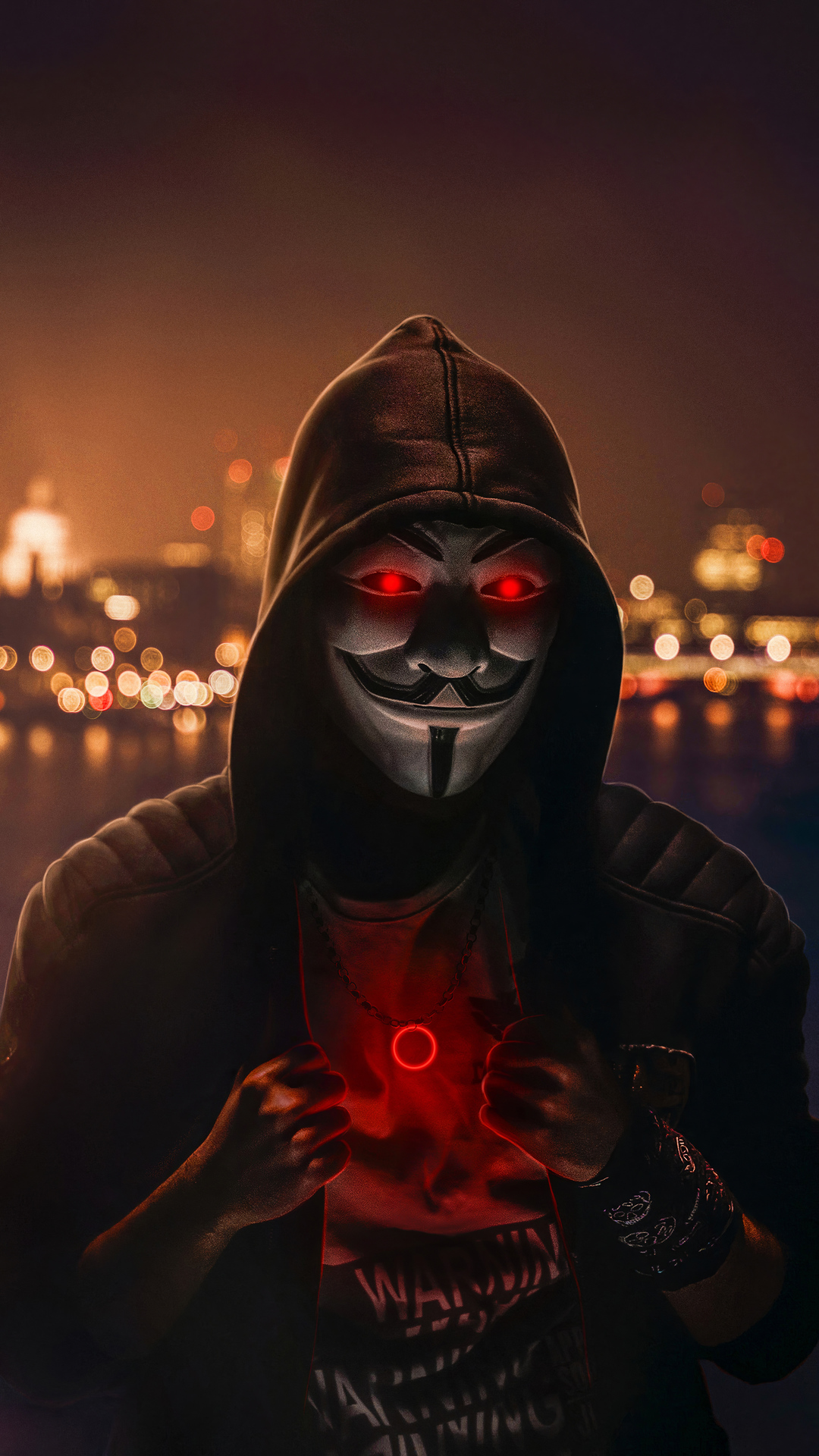 Anonymous Mask Red Eyes