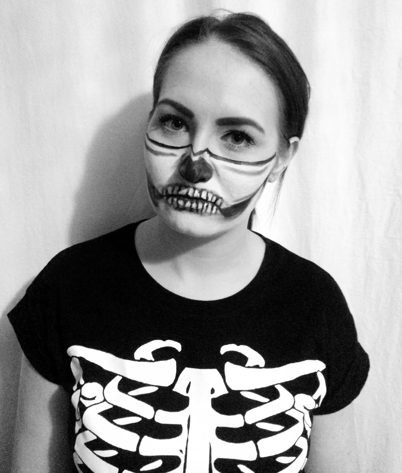 Halloween Half Face Skeleton