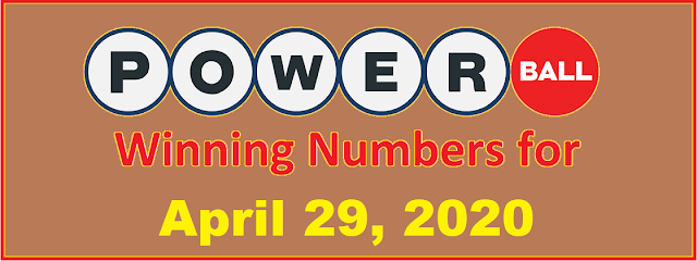 PowerBall Winning Numbers for Wednesday, April 29, 2020