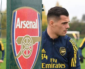 Granit Xhaka pictured in Arsenal training as Roma move looks entirely off