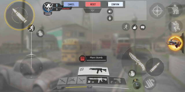 Settingan Tata Letak Tombol 4 Jari Call of Duty Mobile