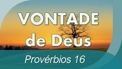 estudo bíblico Provérbios 16 pregação A Vontade de Deus