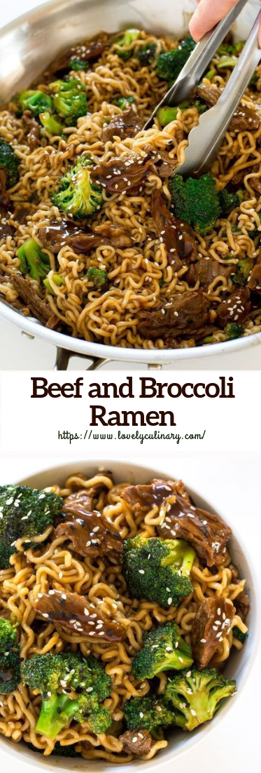 Beef and Broccoli Ramen #Dinner #easy