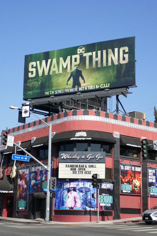 Swamp Thing Broadcast premiere billboard