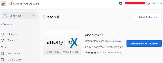 Tutorial anonymox di browser google chrome
