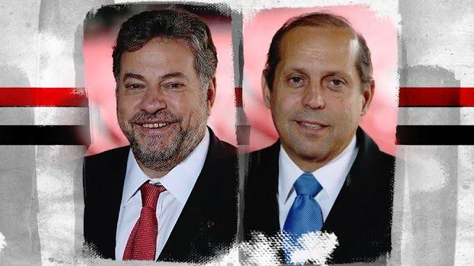 Candidatos à presidência do São Paulo, Julio Casares e Roberto Natel apresentam seus planos