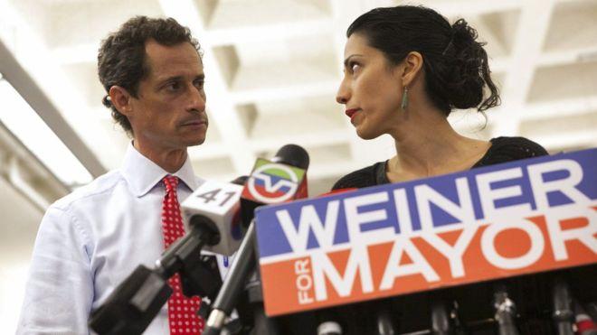 Anthony Weiner scandal: Huma Abedin splits from sexting husband