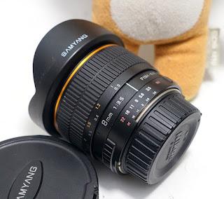 Lensa Fish Eye Samyang 8mm f3.5 For nikon