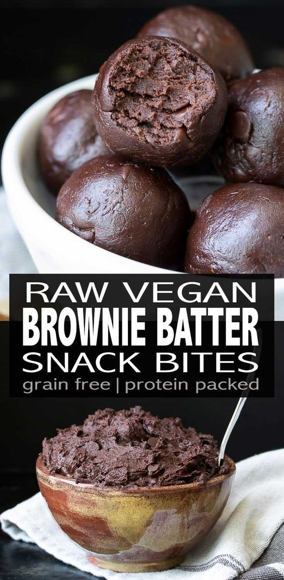 Raw Vegan Protein Packed Brownie Batter Bites