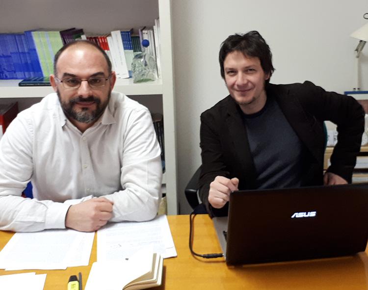 Prof. Enrico Calossi, prof. Eugenio Pizzimenti