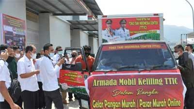 Dinas Pangan Sumbar Gelar Pasar Murah Online di TTIC By Pass Padang