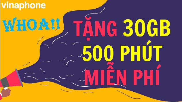 Vinaphone tặng Data 4G Miễn phí