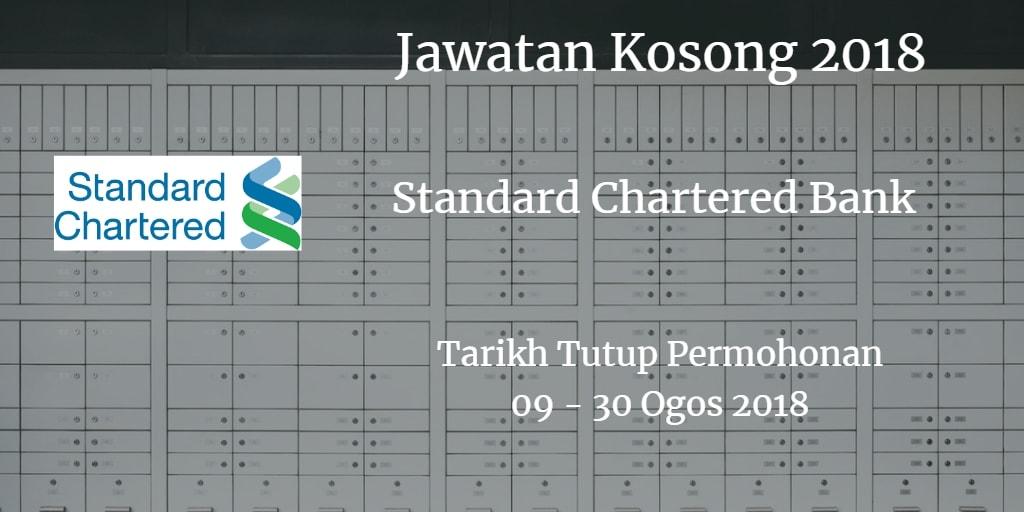 Jawatan Kosong Standard Chartered Bank  09 - 30 Ogos 2018