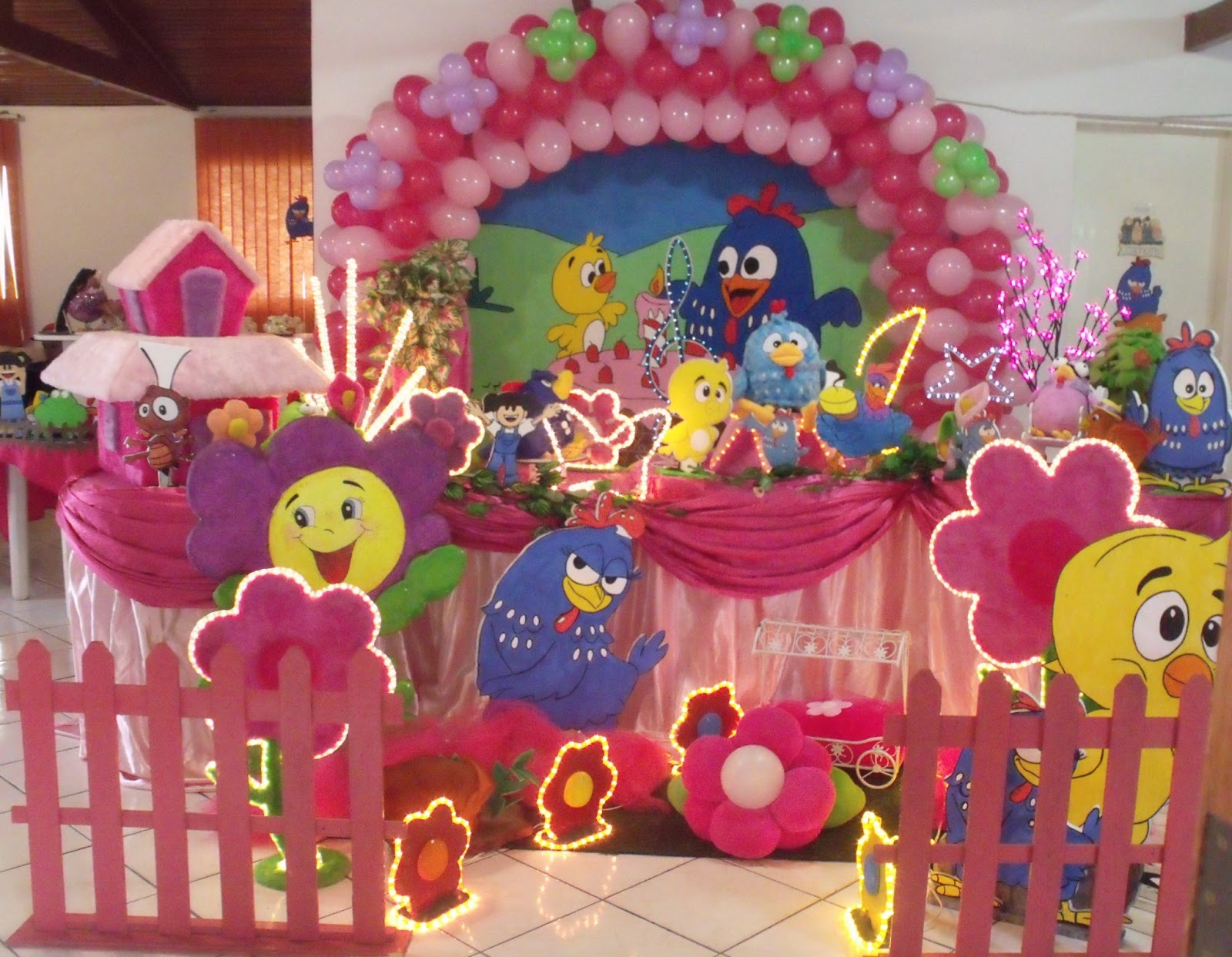 Decoraç u00e3o Galinha Pintadinha Rosa -> Decoração De Festa Galinha Pintadinha Rosa