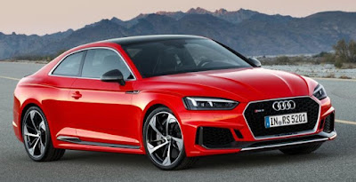 Audi RS5 Coupe car pictures - on road red color