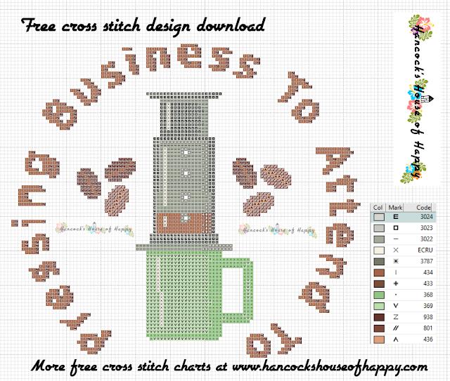 Coffee Week! Hip and Trendy Aeropress Coffee Cross Stitch Design Free to Download