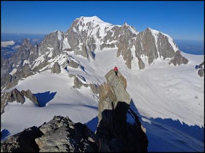 Dent du Geant, Alpes, desde refugio Torino